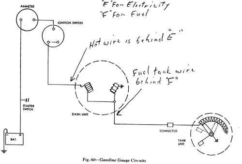 1953 chevy gas gauge wiring
