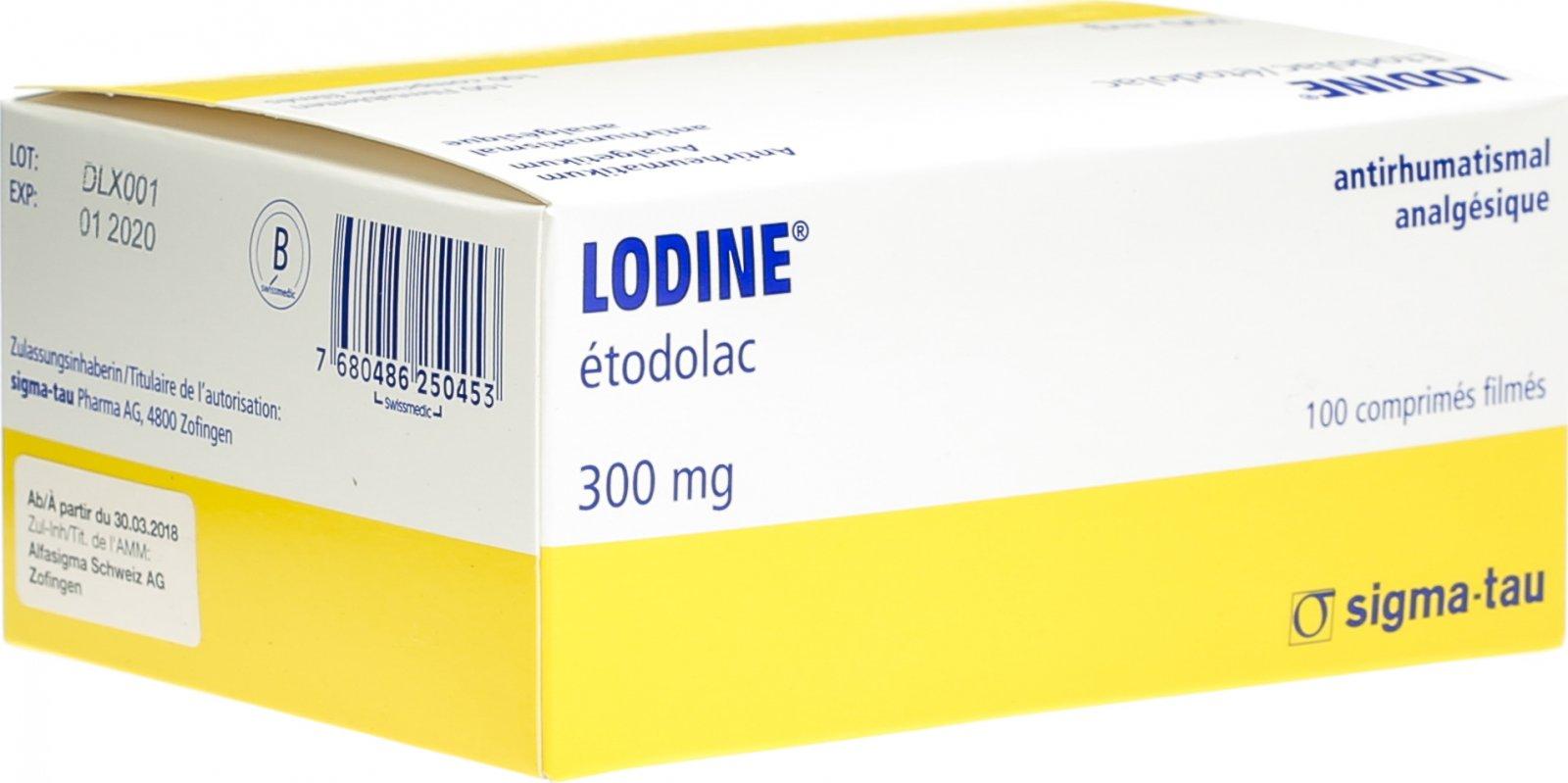 Lodine 300 Filmtabletten 300mg 100 Stück in der Adler Apotheke