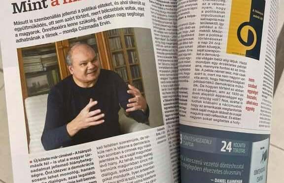 HVG-interjú Csizmadia Ervinnel új könyve kapcsán