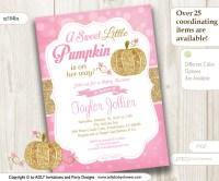 FALL BABY SHOWER IDEAS: GOLD PINK PUMPKIN BABY SHOWER ...