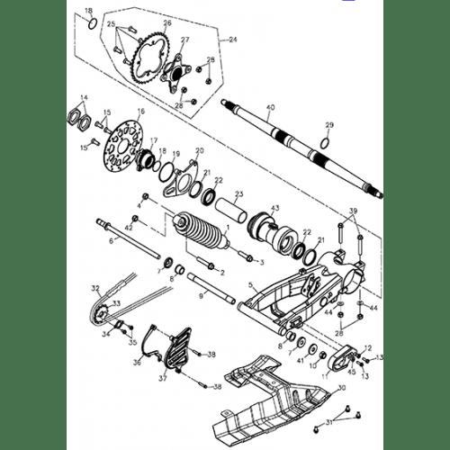 Swing Arm Sub Assy (EU2) (Adly ATV 300xs Assault)