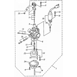 Carburetor (ADLY RT-50 Road Tracer)