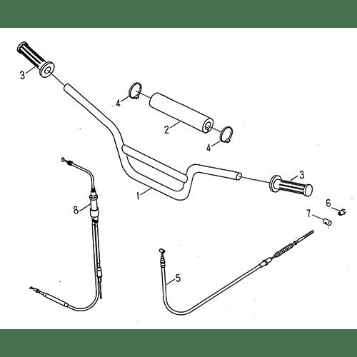 Steering Handle Cable (LRX/SMC ATV 50 mini)