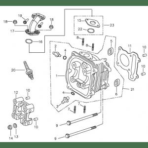 Cylinder Head (Adly ATV 90II 4T (CVT))