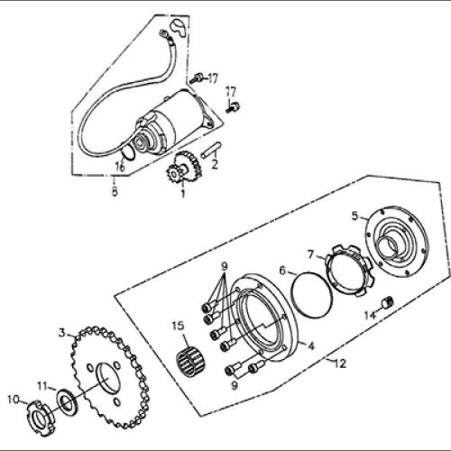 Starting Motor (Thunder Bike 150)