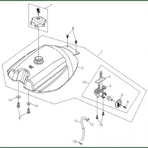Fuel System (Fuel Tank) (Adly ATV 200S)
