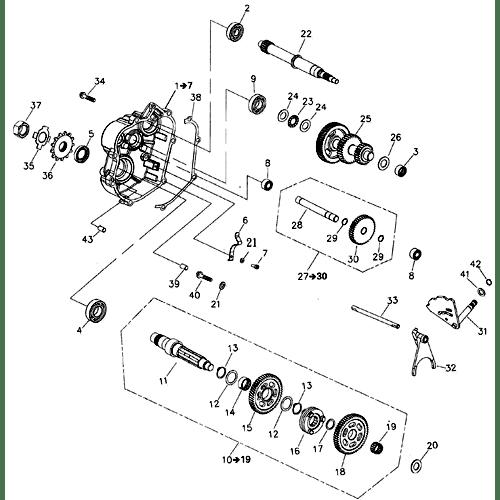 Gear Shift (Adly ATV 220S)
