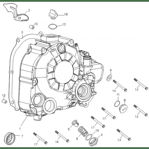 Right Crankcase Cover (Adly ATV Q280)