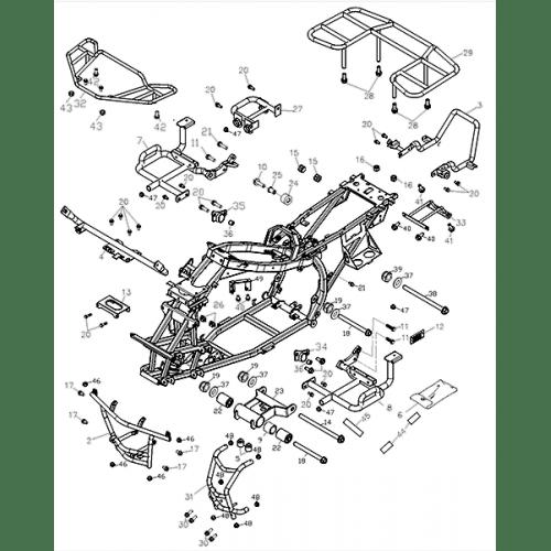 Frame Body (Adly ATV Q280)