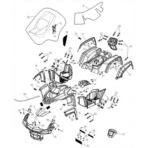Body Cover / Seat (Adly ATV Q280)