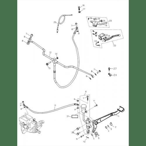 Brake System (Adly ATV Q280)