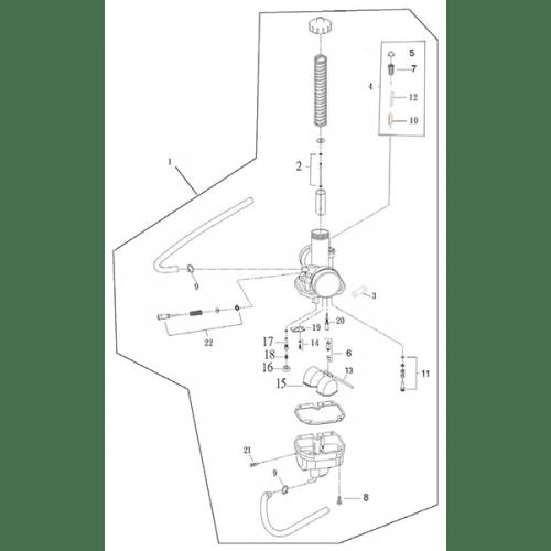 Carburetor (Adly ATV Q280)