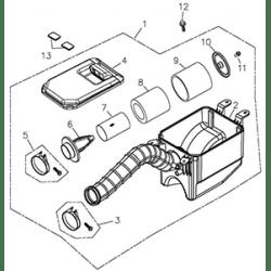 Air Cleaner Assy (Adly ATV Q300)