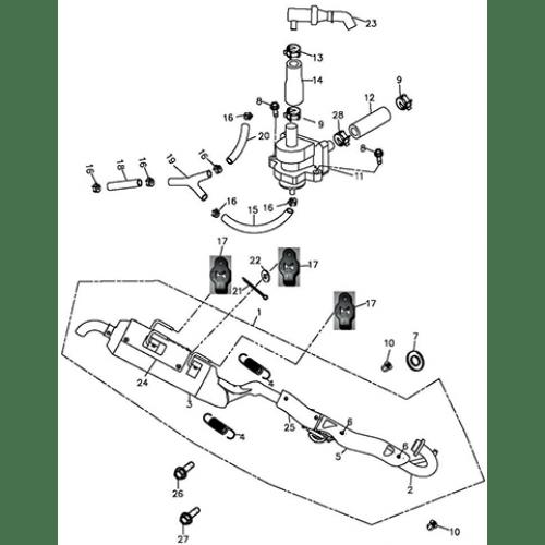 Muffler (Adly ATV Q300)