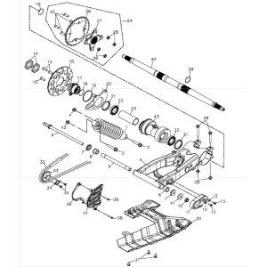 Swing Arm Sub-assembly (Adly ATV 300S II CrossXRoad)