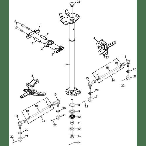 Steering (Adly ATV 300S Interceptor)