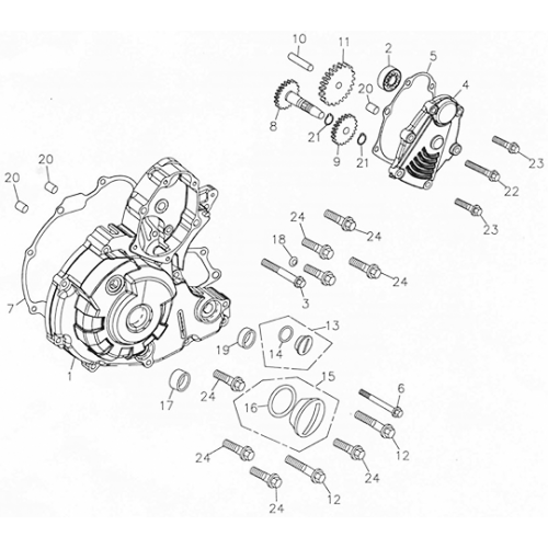 Left Crankcase Cover (Adly ATV 300U)