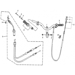 Handle, Pipe, Cable (Thunder Bike 50)