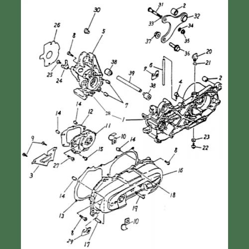 Crankcase (Adly ATV 90cc 2T)