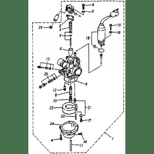 Carburetor (Adly PANTHER-50 '06)