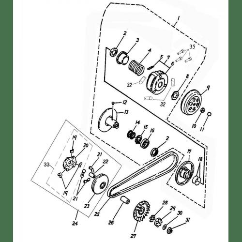 Clutch (Adly Atv 100D)