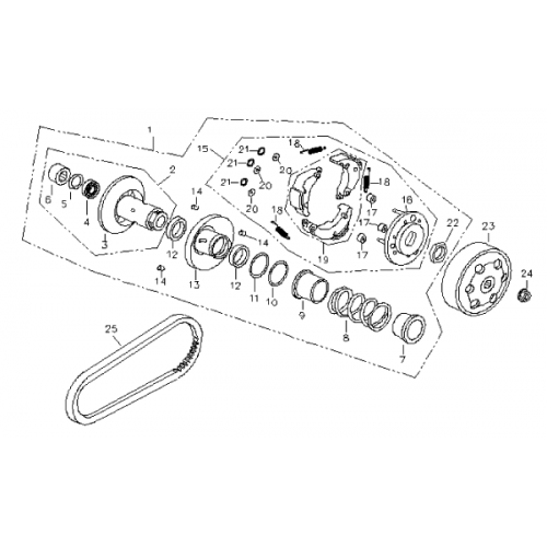Pulley System (Bombardier Mini DS 90 4T)