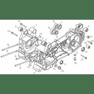 Crankcase (Adly GK-125 (BK-125) 2005)