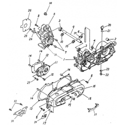 Crankcase (Lambretta UNO50)