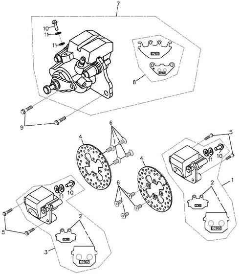 Brake Caliper (Adly ATV 300xs Assault)