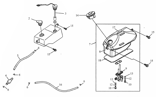 Fuel Tank, Oil Tank (ADLY RT-50 Road Tracer)
