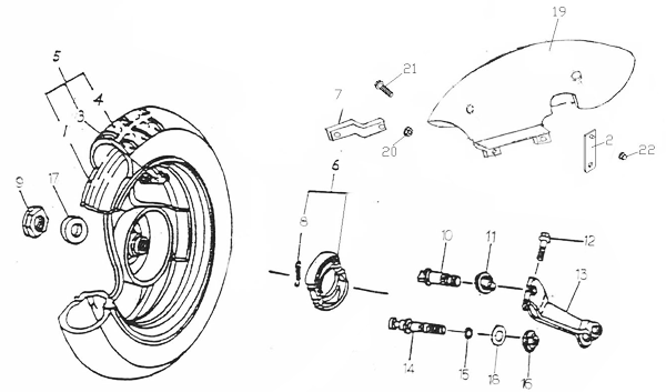 Rear Wheel (ADLY RT-50 Road Tracer)