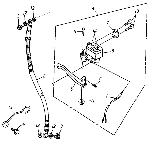 Front Master Cylinder (ADLY RT-50 Road Tracer)