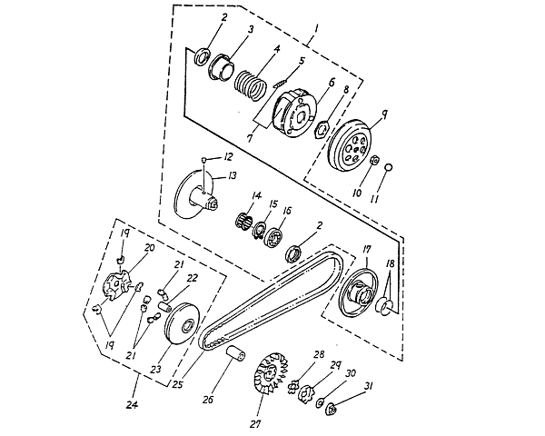 Crankshaft Piston Blazer 50cc Atv