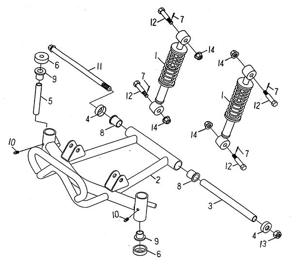 Front Suspension (LRX/SMC ATV 50 mini)