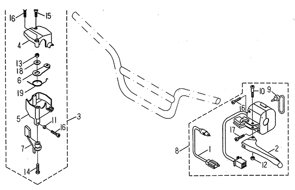 Handle Switch (LRX/SMC ATV 50 mini)