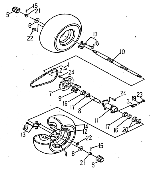 Rear Wheel (LRX/SMC Blast ATV 90/100)