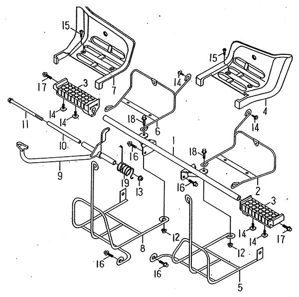 Stand Footrest (LRX/SMC Blast ATV 90/100)