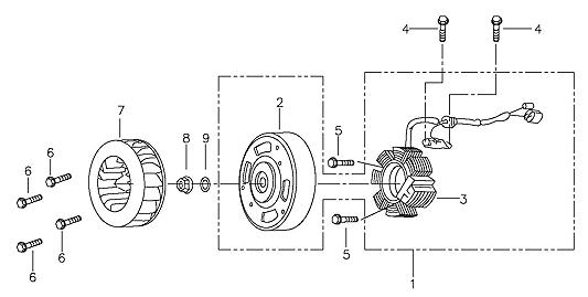 Generator (Adly ATV 90II 4T (CVT))
