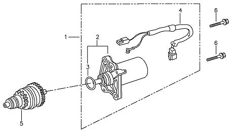 Starting Motor (Adly ATV 90II 4T (CVT))