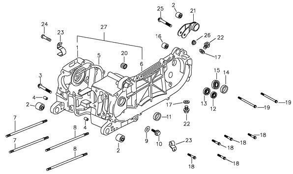 Crankcase (Adly ATV 90II 4T (CVT))