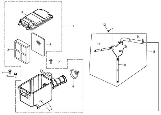Air Cleaner (EPA) (Adly ATV 90II 4T (CVT))