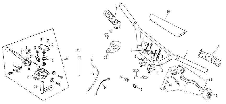 Handle Bar (Adly ATV 90II 4T (CVT))