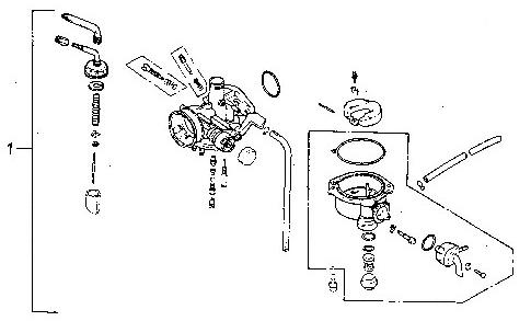 Carburetor (Adly ATV 90Z2 4T (Gear Drive))