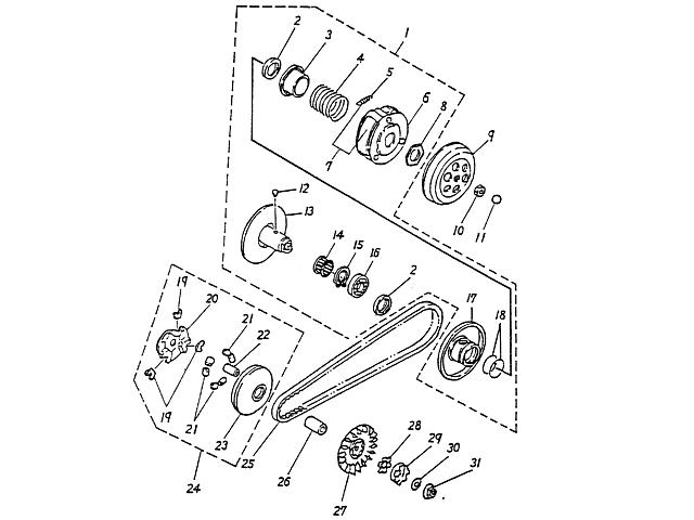 Clutch (Blazer 90cc ATV)