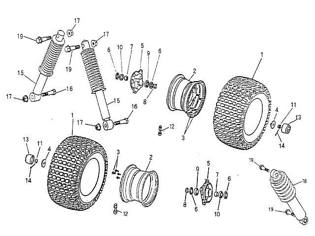 Front Wheel, Suspension (Blazer 90cc ATV)