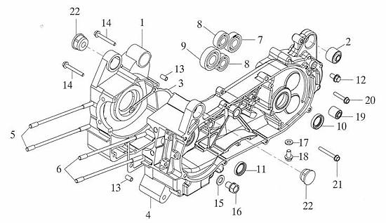 Crankcase (Adly ATV 150S II CrossXRoad)