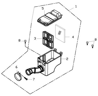 Air Cleaner (Adly ATV 150S II CrossXRoad)