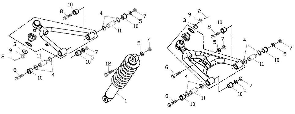 Arm (Adly ATV 150S II CrossXRoad)