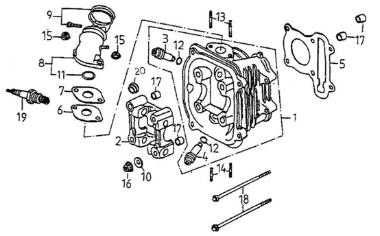 Cylinder Head (Adly ATV 150S Interceptor)