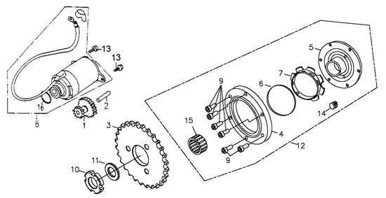 Starting Motor (Adly ATV 150S Interceptor)